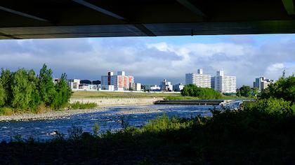 夏の豊平川