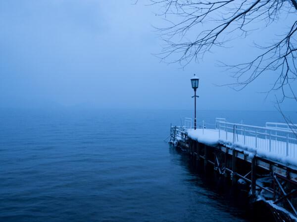 冬の支笏湖温泉
